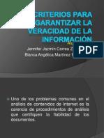 Criterios para garantizar la veracidad de la información