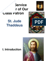 Prayer Service for the Feast of St Jude Thaddeus