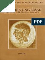 Polibio de Megalopolis - Historia Republica Romana Tomo III