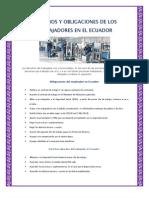 Derechos y Obligaciones de Los Trabajadores en El Ecuador