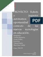 ROBOTS Y JUGUETES AUTÓNOMOS UNA OPORTUNIDAD