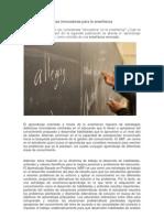 Estrategias didácticas innovadoras para la enseñanza