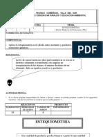 Grado 10 Estequiometria y Gases Instituto Tecnico Comercial Villa Del Sur