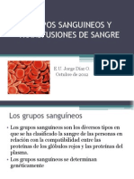 Grupos Sanguineos y Transfusiones de Sangre