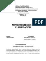 Antecedentes de La Planificacion