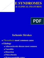 Stroke Syndromes (Etiology & Clinical Features)