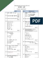 Pembahasan Soal UN Matematika SMP 2012 Paket A18