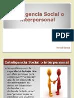 Inteligencia Social o Interpersonal