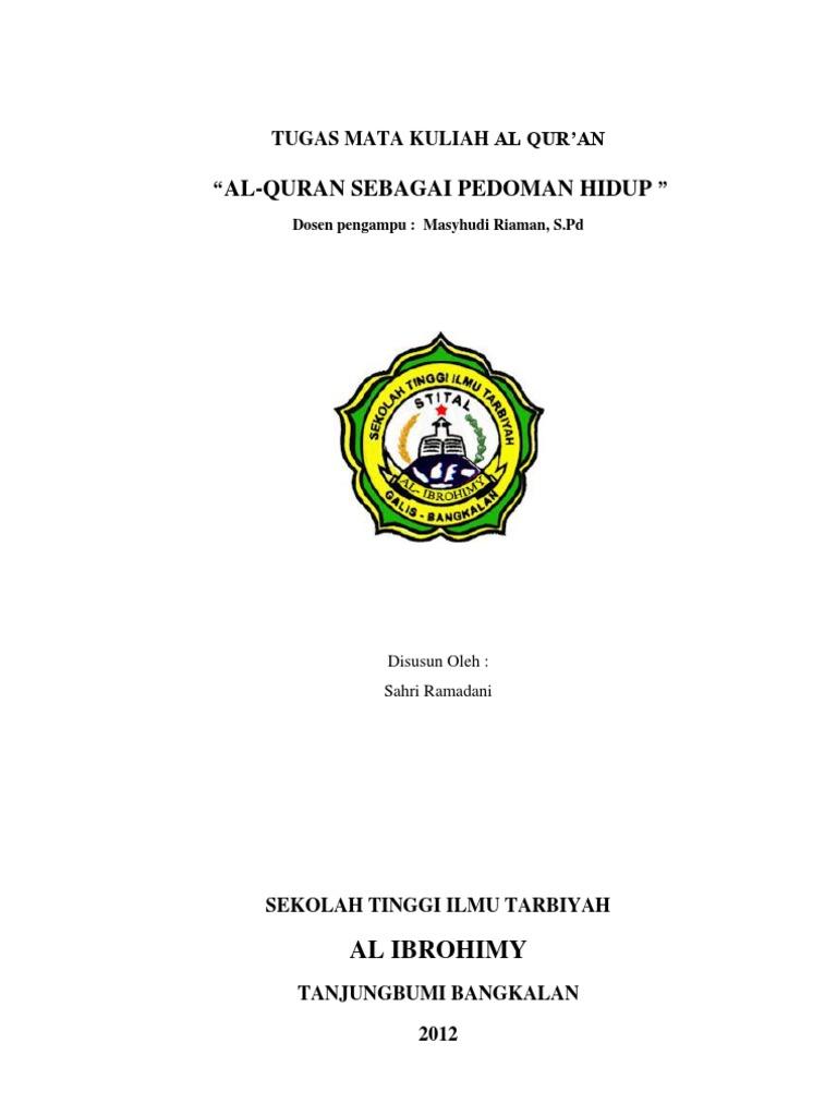Contoh Makalah Al Quran Sebagai Sumber Hukum Islam