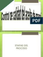 CONTROL DE CALIDAD DEL ACEITE DE MANÍ