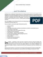 Training Report on Democracy and Devolution