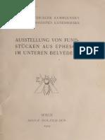 AUSSTELLUNG VON FUNDSTÜCKEN AUS EPHESOS IM UNTEREN BELVEDERE  ADOLF HOLZHAUSEN,WIEN,1905