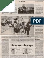 Crear Con El Cuerpo. El Norte de Castilla.octubre 2006