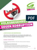 Volksbegehren Korruption - Langtext