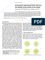 Multi-Band Stacked Microstrip Patch Antenna for Wireless Applications