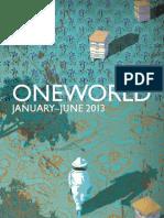 Oneworld Catalogue January-June 2013