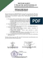Pengumuman Ujian PPL