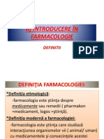 Introducere in farmacologie