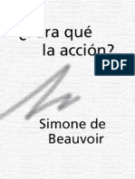Simone de Beauvoir Para Que La Accion