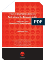 Trade in Engineering Services Australia and the European Union Dec 2009