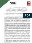 Comunicado Huelga General 14nov Prodiversa