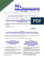 DTC agreement between Former Yugoslav Republic of Macedonia and Slovenia