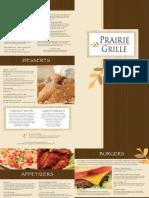 Prairie Grille Menu