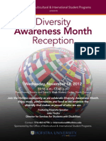 November 14, 2012 - Diversity Awareness Month Reception