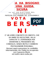 Volantino Per Bersani Primarie 2012