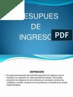 Exposicion Hacerca de Presupuesto d Ingreso.