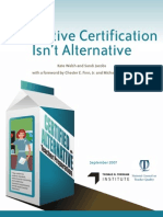 Alternative Certification Isnt Alternative 20071124023109