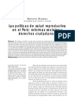 Politicas de Salud Sexual y Reproductiva Peru