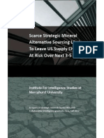 Scarce Strategic Mineral Alternatives Likely To Leave US Supply Chain At Risk Over Next 3-5 Years