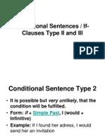 Conditional Sentences II,III