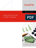 CompTIA paper on fiscal cliff