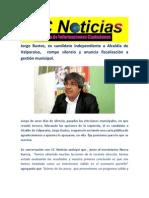 Jorge Bustos, ex candidato independiente a Alcaldía de Valparaíso,  rompe silencio y anuncia fiscalización a gestión municipal.