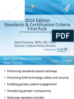2014 Edition Standards & Certification Criteria Final Rule