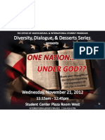 November 21, 2012 - One Nation... Under God??