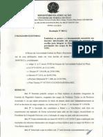 Resolução sobre lista tríplice para reitor 2012