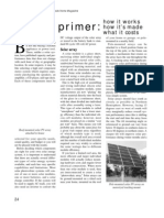 A Solar Primer--how It Works, How It's Made, What It Costs...