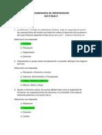 Act. 9 Quiz 2 - Fundamentos de Administración