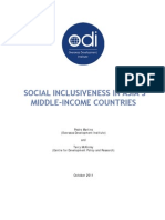 Social Inclusiveness in Asia's Middle Income Countries