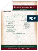 An Poitin Stil Cocktail Reception Menu FA2012