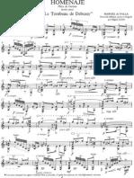 Falla Manuel de Homenaje Pour Debussy Guitar