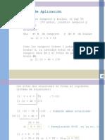Ecuaciones y Ejercicios de Aplicacion de Sist. de Aplicacion
