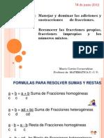 Formula Para Resolver Fracciones y Criterios de Divisibilidad