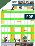 Calendário Escolar Marvel 12-13