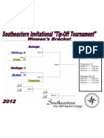 2012 Southeastern Tip Off Basketball Tournament Brackets - Women