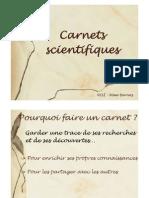 Carnet Scientifique