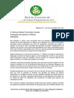 Carta al embajador español